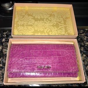Classic Miu Miu crocodile leather long wallet